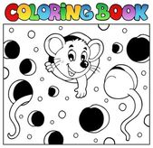 Coloring book with mouse 2 — Stock Vector