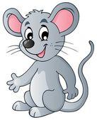 Cute cartoon mouse — Stock Vector