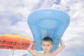 Little swimmer. — Stock Photo