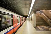 Modern metro station. Warsaw in Poland. — Stock Photo