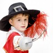 Stock Photo: Boy with carnival costume