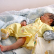Stock Photo: Newborn baby in hospital
