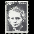 POLAND - CIRCA 1982: physicist Marie Sklodowska-Curie, Radioactivity. - Stock Photo