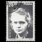 POLAND - CIRCA 1982: physicist Marie Sklodowska-Curie, Radioactivity. — Stock Photo