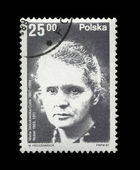 POLAND - CIRCA 1982: physicist Marie Sklodowska-Curie, Radioactivity. — Stock Photo