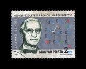 Macaristan - yaklaşık 1981: penisilin kurucusu alex fleming. — Stok fotoğraf