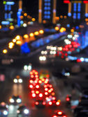Abstract holiday street illuminations, power details — Stock Photo