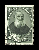 USSR - CIRCA 1978: cancelled stamp russian writer Leo Tolstoy. — Stock Photo