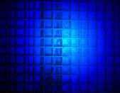 Abstract blue light on the glass wall, science details. — Stock Photo