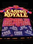 Fabulous Las Vegas Casino Royale night illumination. — Stock Photo