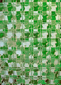 Abstract green glass wall, interior diversity. — Stock Photo