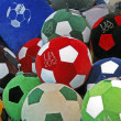 Royalty-Free Stock Photo: Sport balls with football emblem EURO 2012, Kiev, Ukraine.