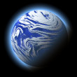 Abstract blue planet with atmosphere, cosmos details. — Stock Photo
