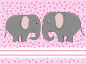 Elephant love — Stock Vector