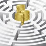 Money in the maze — Stock Vector #10383955