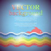 Vector background for design on sea subjects — Stock Vector