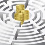 Money in the maze — Stock Photo #10464626