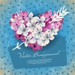 Heart from flowers of a lilac — Stock Vector #8620904