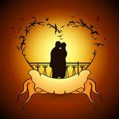 Casal apaixonado — Vetorial Stock