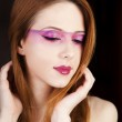 Portrait of beautiful redhead girl with style make-up — Stock Photo #10352736