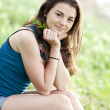Brunette girl at summer park. — Stock Photo #10449362