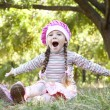 Cute little girl at outdoor — Stock Photo