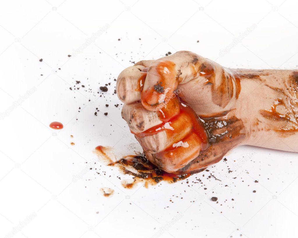 кулак крови фото