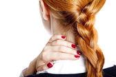 Businesswomen with neck pain — Stock Photo