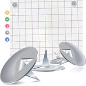 Pin and paper — Stockvektor