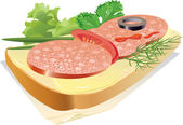 Sandwich — Stock Vector