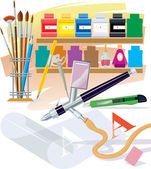 Tools of the artist — Stock Vector