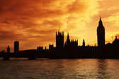 Westminster and the Houses of Parliament at sunset — Stock Photo