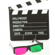 Stock Photo: movie clapper board