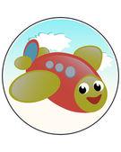 Komisches flugzeug — Stockvektor