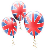Balls with symbols of the U.K. on a white background ( high resolution ) 3d — Stock Photo