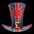 TOP hat of UK isolated on black background High resolution 3D — Stock Photo