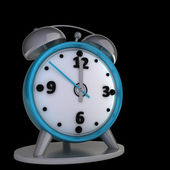 Alarm clock isolated on black background High reolution 3d — Stockfoto