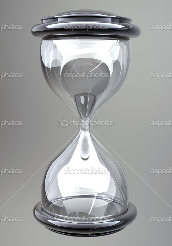 Closeup of hourglass in warm  Stock Photo #9815084