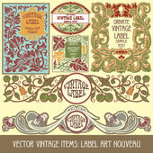Label art nouveau — Vetorial Stock