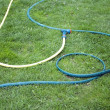 Hose for watering of lawn water — Stock Photo