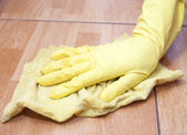 Cleaning of a kitchen tile — Stock Photo