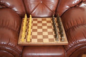 Chess with a board — Stock Photo