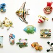 Decorative toys on magnets — Stock Photo #9150861