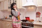 The woman prepares on kitchen — Stock Photo