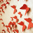 Decorative red butterflies — Stock Photo #9922460
