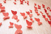 Decorative red butterflies — Stockfoto