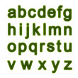 Green alphabet — Stock Photo