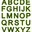 Green alphabet - capital letters - Stock Photo