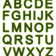 Green alphabet - capital letters — Stock Photo
