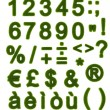 Green alphabet - Numbers and Symbols — Stock Photo #10354579